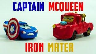 Captain McQueen VS Iron Mater | New Found Power Disney Cars Play-doh Lightning Toys