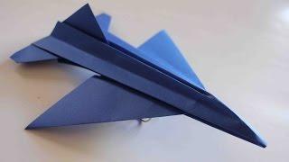 Como hacer un Avion de Papel que Vuela Mucho - Aviones de Papel - Origami Avión | F16