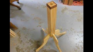Make A Fancy Wooden Pedestal