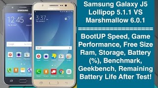 Samsung Galaxy J5 - Lollipop 5.1.1 VS Marshmallow 6.0.1 - Which Is Better?