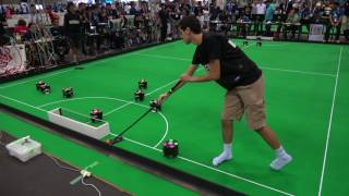 Robocup 2017 in Nagoya SSL OP-AmP(Japan) VS MRL(Iran) 1/2 4K 30fps