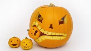 How to Carve a Pumpkin Eating a Pumpkin - Halloween