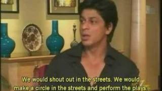 Shahrukh talks about Salman Khan Bollywood Baazigar interview 2006 (PART 5)