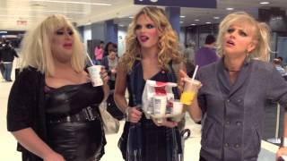 Chow Down as Willam, Vicky Vox & Courtney Act fly IN DRAG!