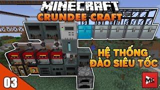 Hệ Thống Điện Bằng Lava, Máy Đào Siêu Tốc - Minecraft Crundee Craft [3] | MK Gaming