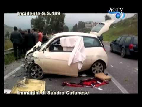 Incidente mortale S S 189 immagini di Sandro Catanese AGTV 20 01 2011