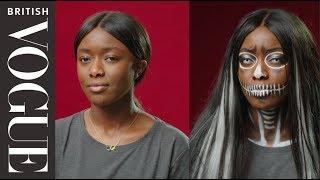Easy Halloween Make-Up: Gothic Skull   British Vogue