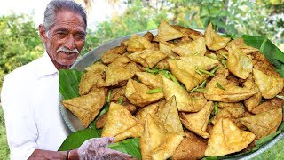 Samosa Recipe   Aloo Samosa Recipe Cooking by our grandpa for Orphan kids