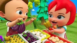 Baby-Preschool Learning Videos | Learn Vegetables Names For Kids With Little Baby Boy Girl Fun Edu