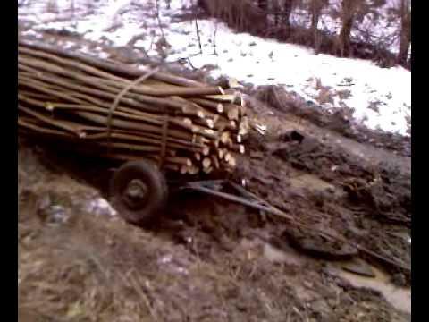 massey ferguson 3645 towing trailers of mud