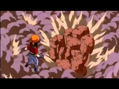 Goku si trasforma in Super Sayan 4° livello