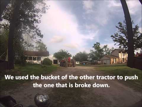 How to Load a Broke Down Tractor Up on to a Trailer