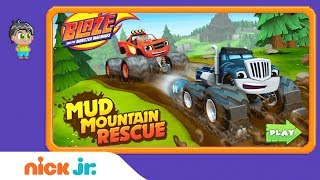 Blaze and the Monster Machines: 'Mud Mountain Rescue' Game Walkthrough | Nick Jr. Games