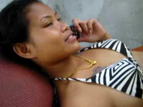 Burmese Girl playing on the Pool