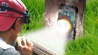 Can Solar Death Ray Melt an iPhone 7? (Parabolic Mirror)