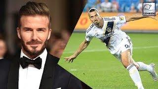 David Beckham Hilariously Mocks Zlatan Ibrahimovic After His 500th Goals