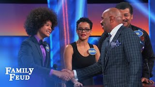 Does Travis have what Steve wants? | Celebrity Family Feud