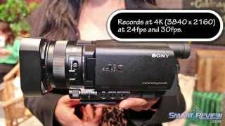 CES 2014 | Sony FDR-AX100 4K Camcorder Review | Ultra HD | Handycam FDR-AX100/B | SmartReview.com