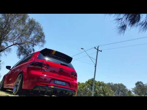 Mk6 Golf R with Anti-lag, IPE Exhaust