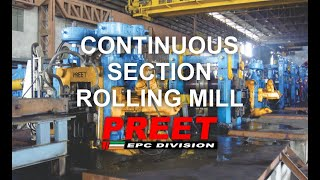 section rolling mill, continous section rolling mill, sturcture rolling mill, tandem rolling mill