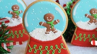 How To Decorate A Snow Globe Cookie - Collaboration With Confetti Cakes