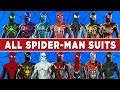 Spider-Man (PS4) All 28 Spider-Man Suits Showcase - Every Unlockable Spiderman Costume, Power & Mods
