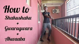 How to do the Shakushaku + Gwara Gwara + Akwaaba dance in just 5 Minutes (Dance Tutorial )