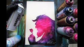 Beauty IN the Beast - SPRAY PAINT ART - by Skech