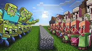 Minecraft | ZOMBIE ARMY VS VILLAGER ARMY! (Massive Mob Battles)