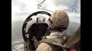 Great Footage Taken From Cockpit of Harrier - Harrier Takes Off From USS Kearsarge - Marine Aviation