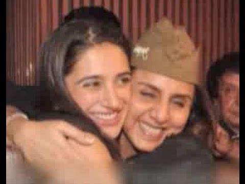 Neetu Singh spotted hugging Nargis Fakhri at Ranbir Kapoor's birthday bash