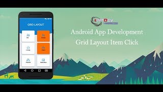 Android Studio Tutorial - Grid Layout Item Click