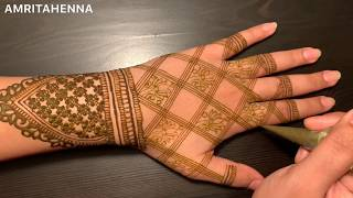 NEW REVERSE FILLING MEHNDI TECHNIQUE TUTORIAL | BEAUTIFUL LOTUS HENNA BRIDAL DESIGN