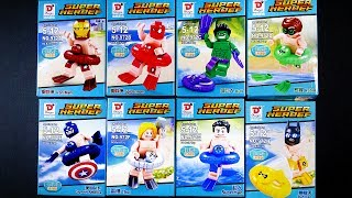 LEGO Marvel Super Heroes Avengers DC Justice League Minifigures  (bootleg / knock-off) DARGO 972 A-H