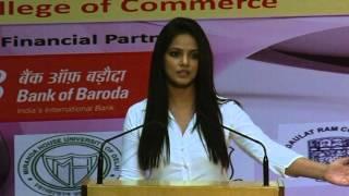PINK CHAIN CANCER CAMPAIGN 2013 at Delhi University : Motivatinal speech by Actress Neetu Chandra