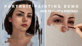 PORTRAIT PAINTING DEMO || Oil Painting Time-Lapse
