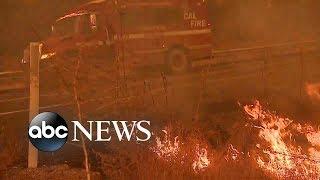Hazardous air quality threat as crews continue to fight California fires