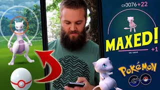 3 Mewtwo EX Raids + Maxed Out My 96% Mew (Finally!) - Pokemon Go