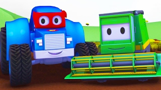 Carl the Super Truck and the Harvester in Car City | Cars & Trucks construction cartoon for children