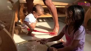 Zara Kerja Bakti bersama Keluarga bersih bersih Rumah | Aktivitas Sabtu Pagi Zara Cute