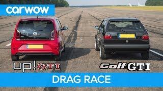 VW Golf GTI MK2 vs up! GTI - DRAG & ROLLING RACE   carwow