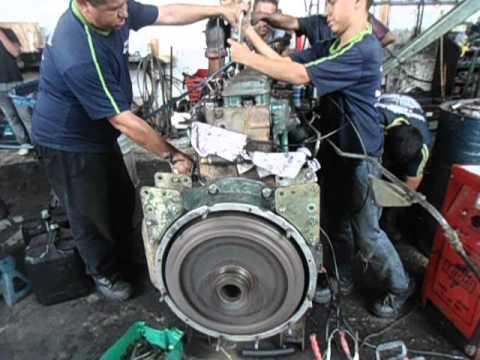 montagem de motor mecanica diesel dois irmaos 102 FS volvo NL 10 340