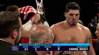 CES Boxing: Juiseppe Cusomano Vs Robert Dunton