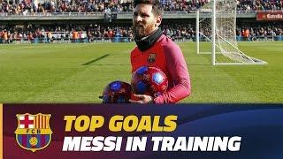 Training session goals: Leo Messi