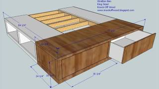 King Size Bed with Storage and Mattress Design