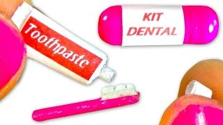 Miniature toothpaste & toothbrush tutorial for dolls - DIY - YolandaMeow♡