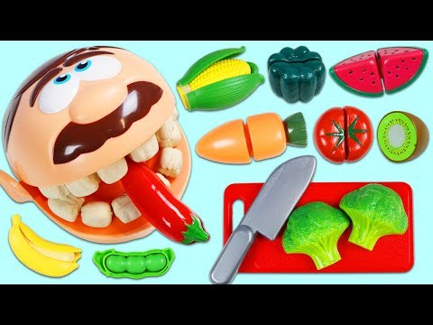 Xxx Mp4 Feeding Mr Play Doh Head Toy Velcro Cutting Fruits And Vegetables 3gp Sex