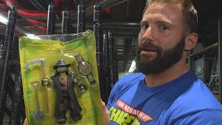 TMNT WWE Ninja Superstars Donatello as The Undertaker action figure unboxing with Zack Ryder