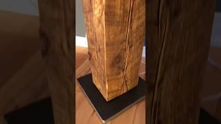 Reclaimed Wood Beam Floor Lamp