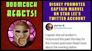 Disney Sells Captain Marvel On Stan Lee's Twitter...AND HE'S DEAD!